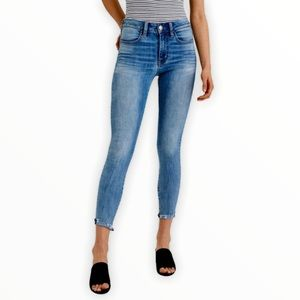 American Eagle Distressed Jeggings Crop Jeans